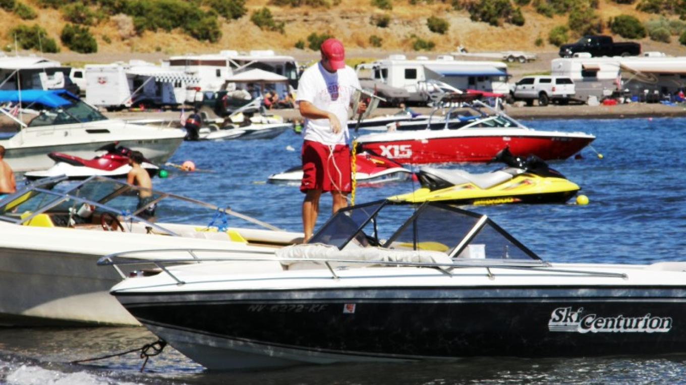 Boats and Families enjoy a beautiful afternoon at Pyramid Lake – Scott H. Carey