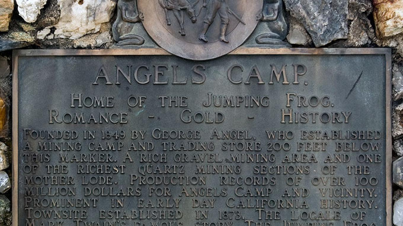 Angels Camp marker – noehill.com