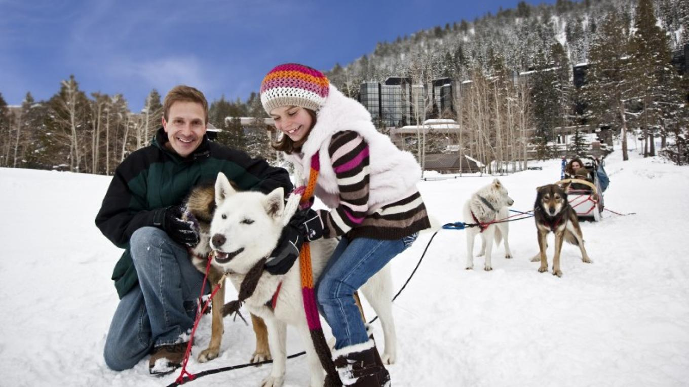 Dog sledding at Resort at Squaw Creek. – Tom Zikas