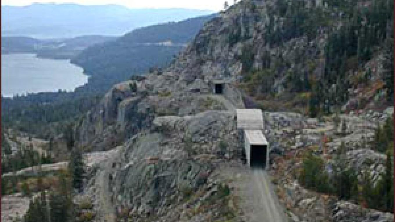 The Central Pacific Railroad tunnels at Donner Summit – www.pbs.org