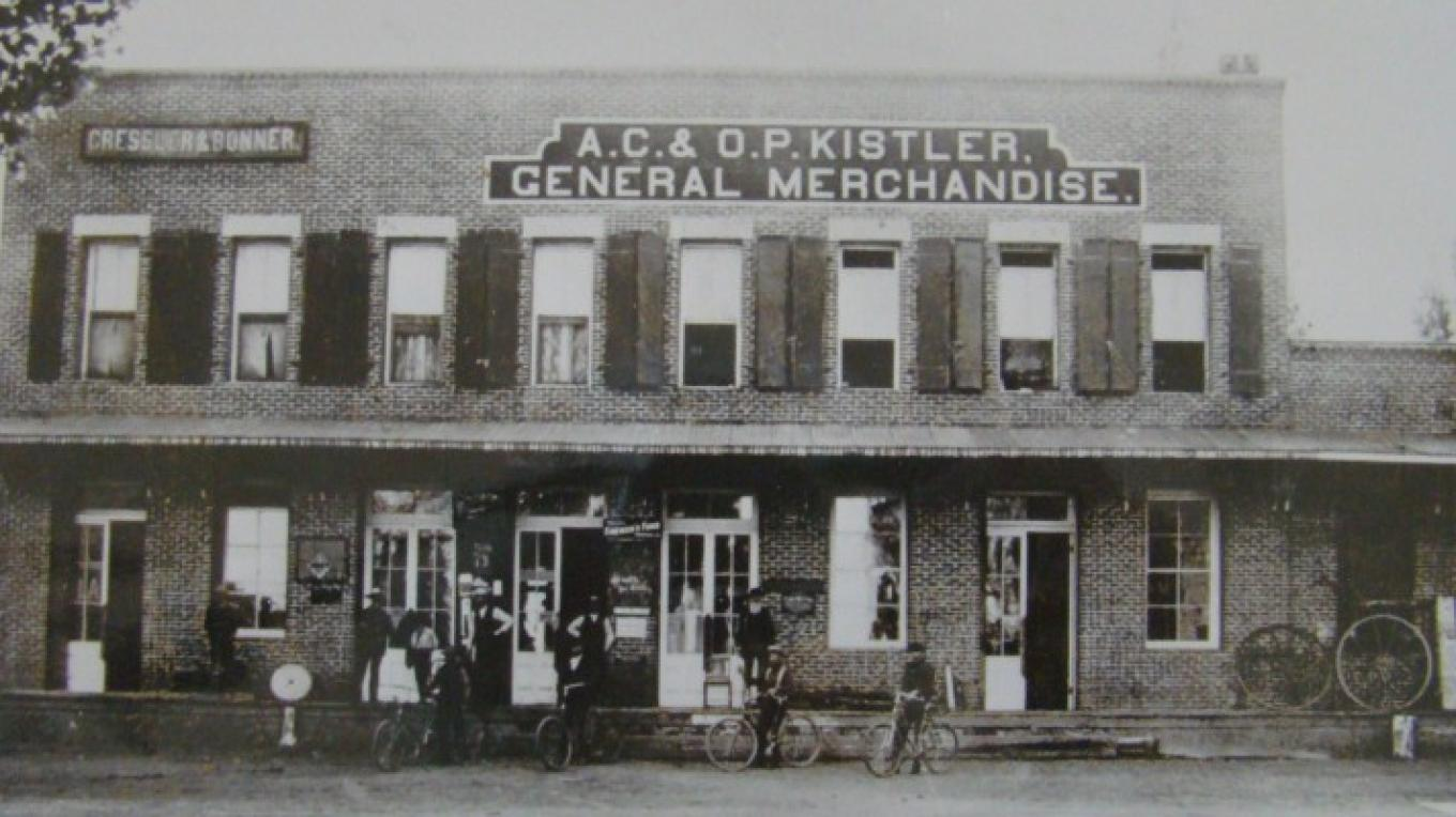 The Cressler Bonner building in the late 1800s. photo courtesy of the Modoc County Museum – ?