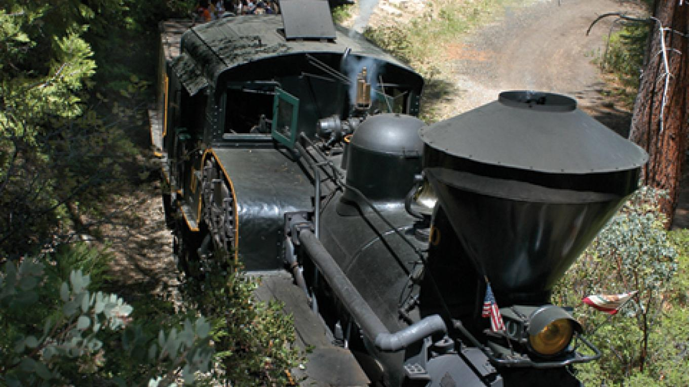 The Logger is a nearly 100 year old Shay Locomotive. This authentic steam engine is like the ones used by the loggers at the turn of the century that helped build the region.