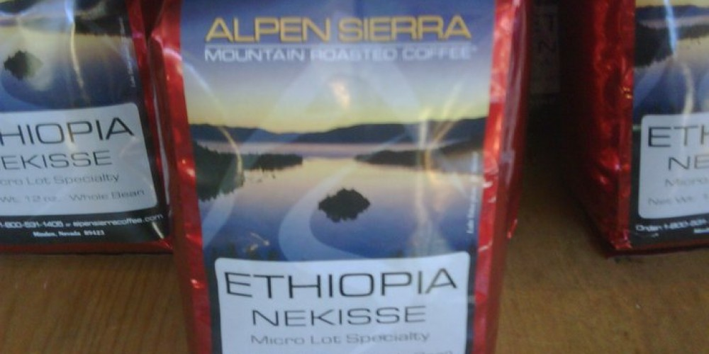 Just one of many specialty coffees – Alpen Sierra Coffee Roasting Co.
