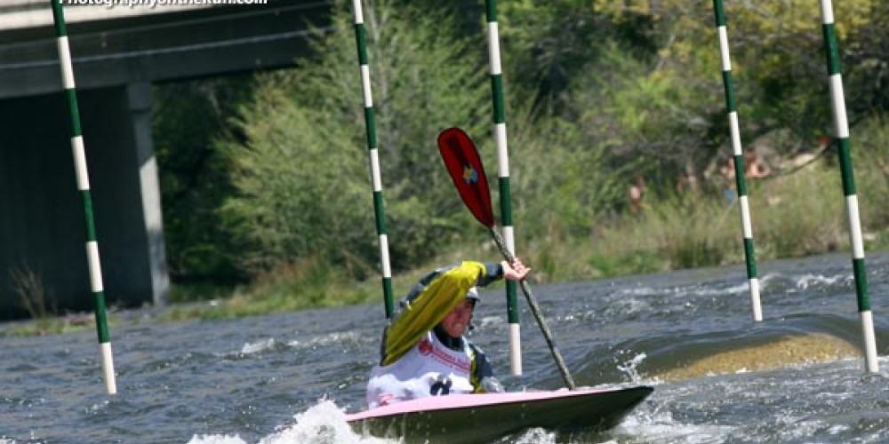 Fast & clean at the annual TJ Slalom race at the Kern River Fest – Gary Valle