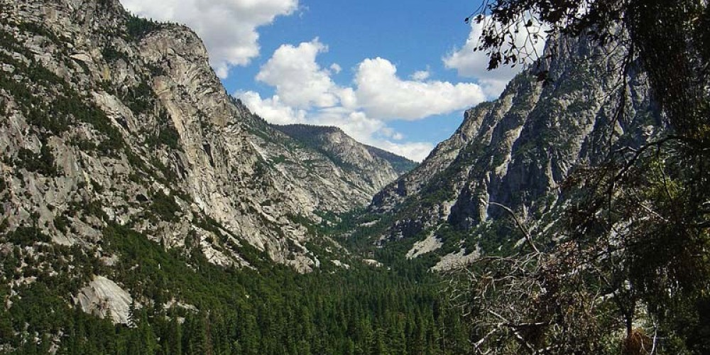 View of Kings Canyon from where the road enters. – NPS/Rick Cain
