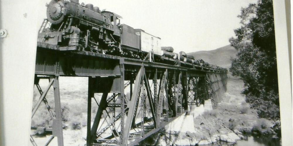 Vintage trestle bridge photo at the museum – Unknown