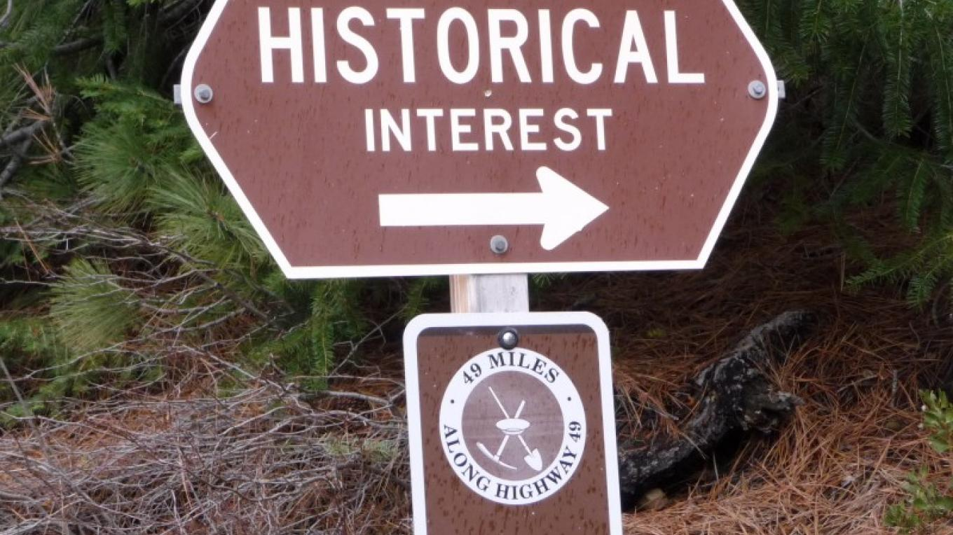 Look for this sign to find historic sites along the route. – Amy Gerbic