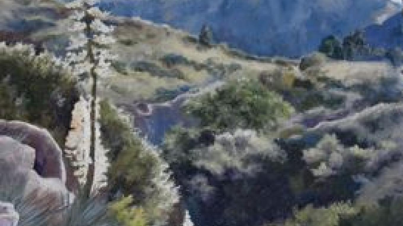 Moro Rock, oil painting