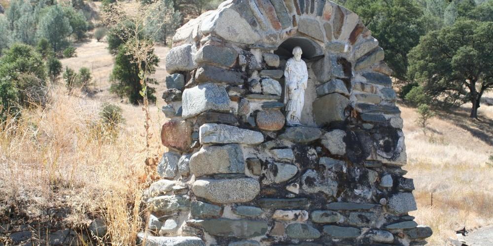 Shrine along old hwy 49. – Carol Russell
