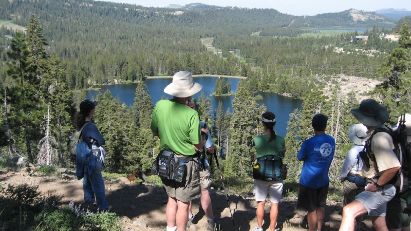 Hikers look over Lake Mary – Truckee Donner Chamber of Commerce