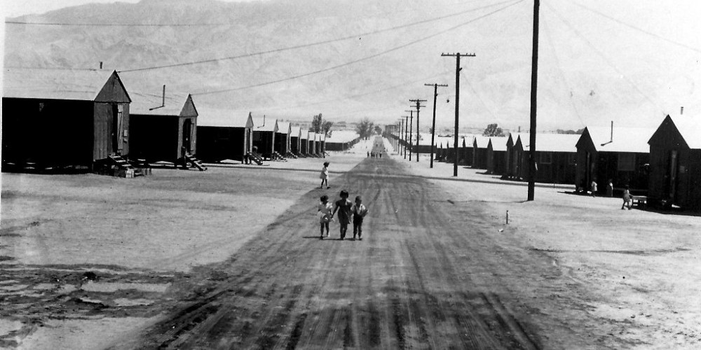 Manzanar War Relocation Center seen during its first year, 1942 – Dorthea Lange, National Archives