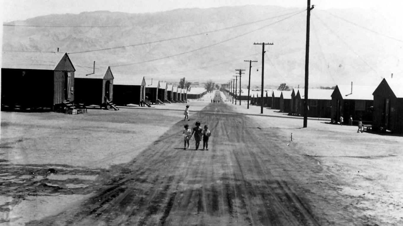Manzanar War Relocation Center seen during its first year, 1942 – Dorthea Lange, National Archives