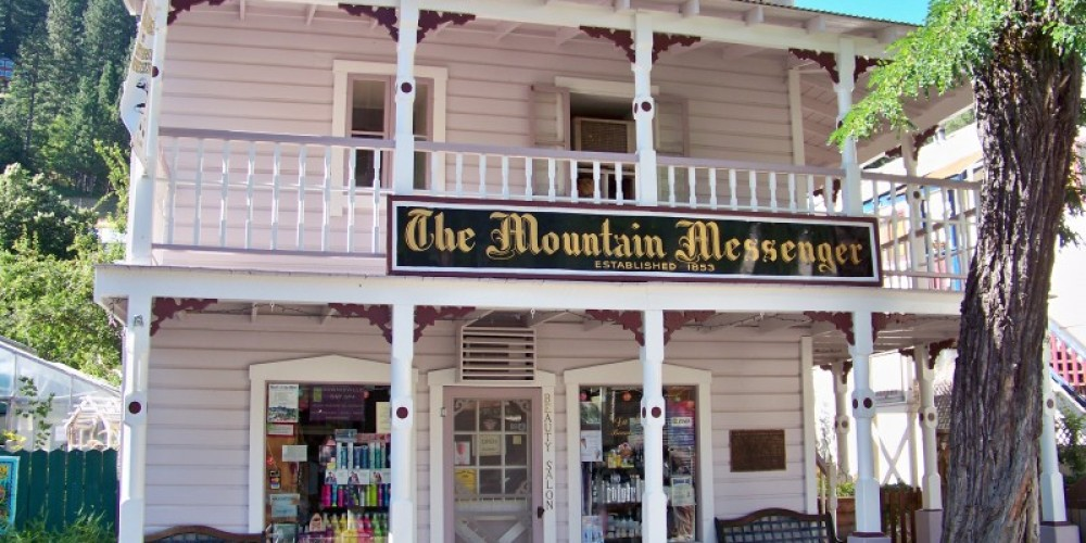 1853 Mountain Messenger Building on Main Street, Downieville – Lee Adams