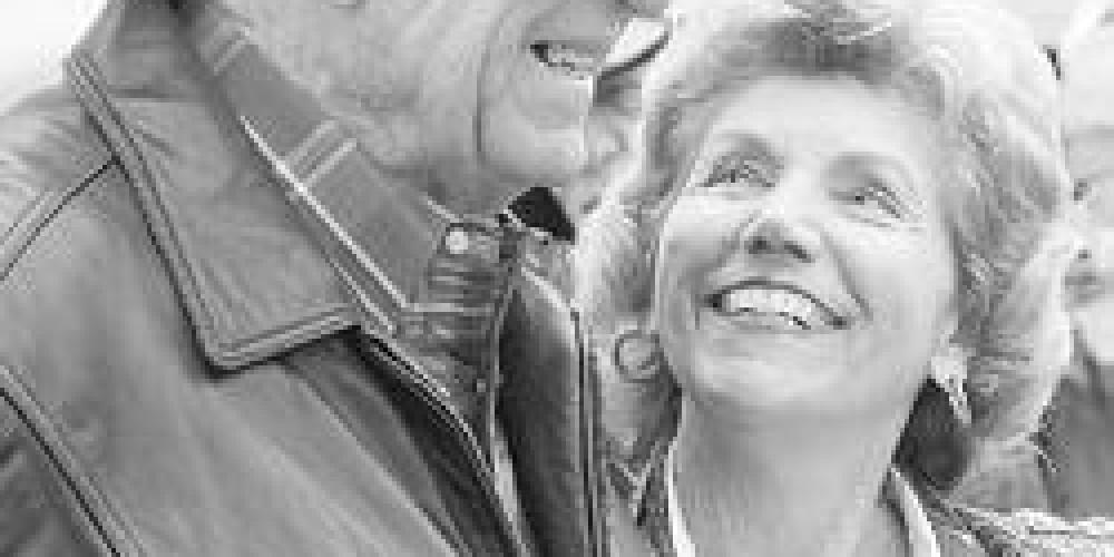 John E. McNally Jr. & friend Jeanette Rogers at his 91st Birthday, April 2006.