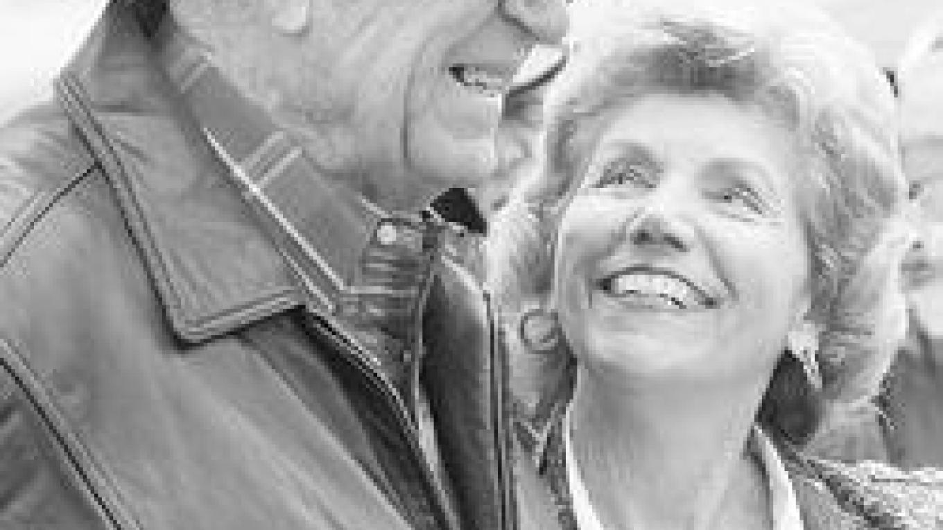 John E. McNally Jr. & friend Jeanette Rogers at his 91st Birthday, April 2006.