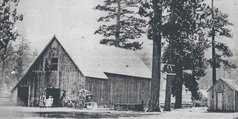 Van Sickle Barn at its previous Lakeside Location 1870 – Conservancy