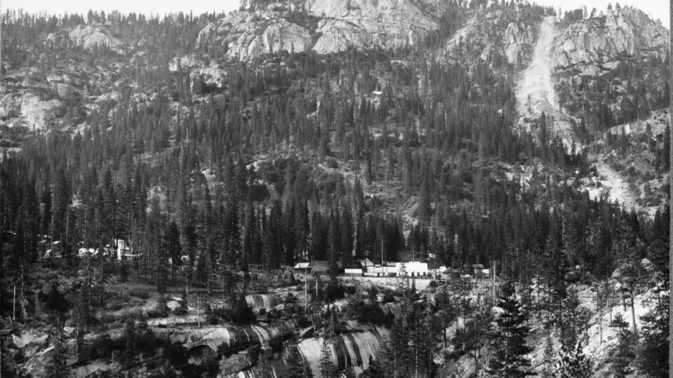 Historical view of Big Creek from south bank – Southern California Edison