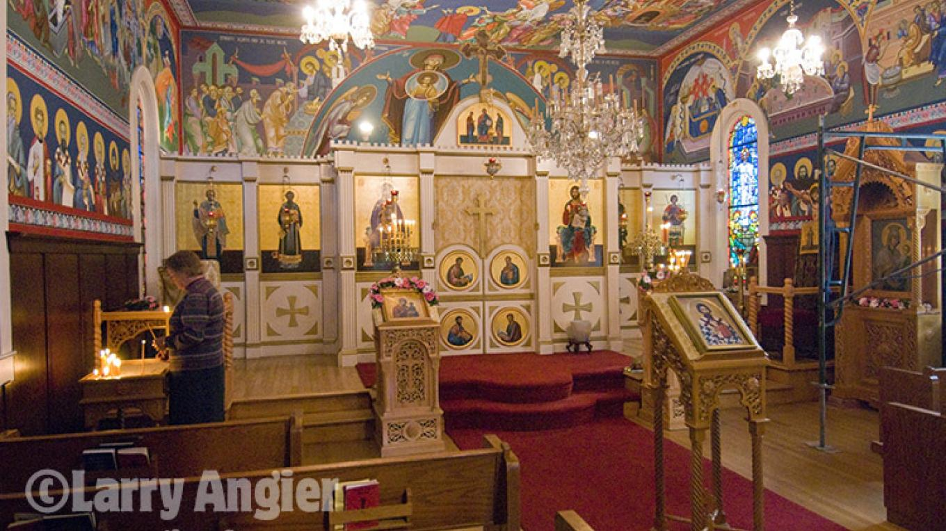 iconostas inside St. Sava Church, Jackson – Larry Angier