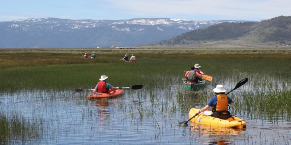 Canoeing/kayaking on the Sierra Valley wetlands in early June. – Shannon Morrow
