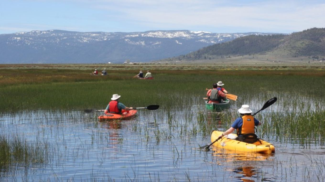 Canoeing/kayaking on the Sierra Valley wetlands in early June. – Shannon Morrow