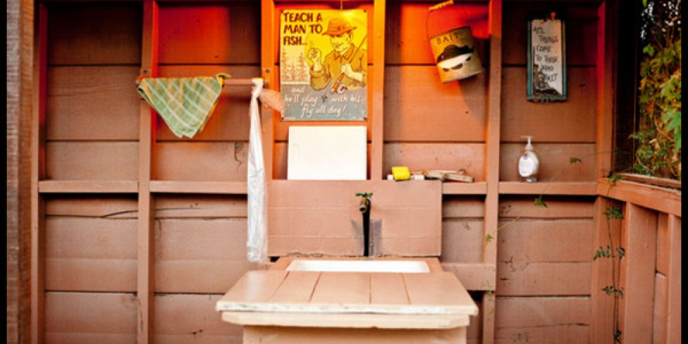 After you've caught a few fish, you can use the fish shed to clean 'em up before you start grilling. – Sequoia Lodge