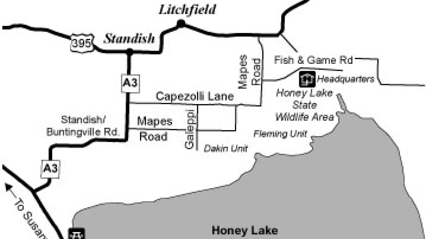 Honey Lake Wildlife Area Map