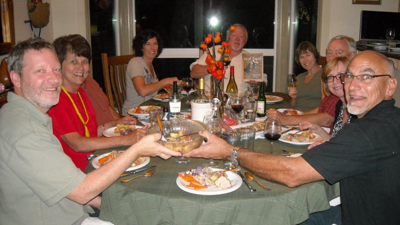 Supper Club Group ~ dinner from the Placer County Real Food Cookbook