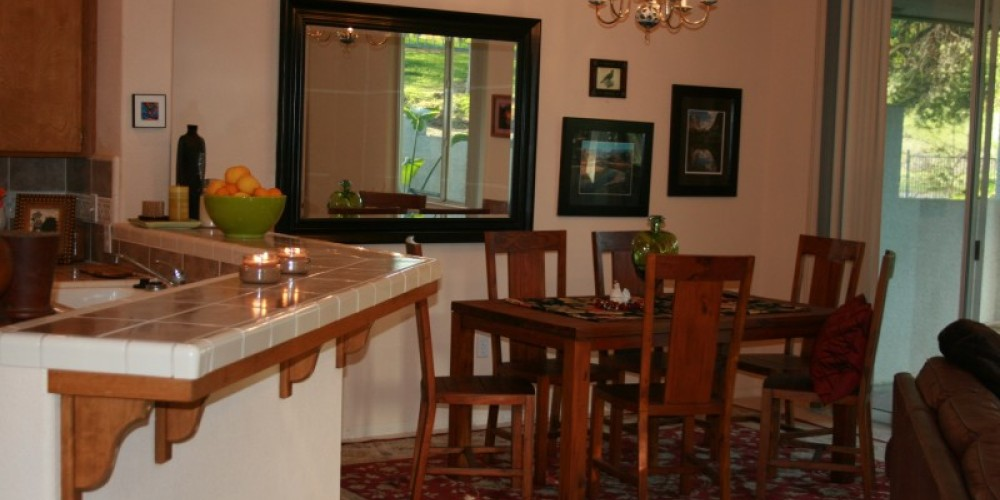 Mohogany dining set with patio and private bbq adjacent. – pam lockhart