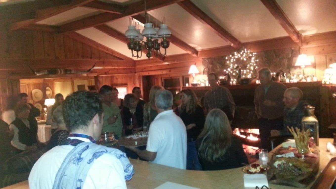 Party time at the Hideaway, a special rental and staffed with a bartender, waitress, and custom catering. – Jeff Luke Titcomb