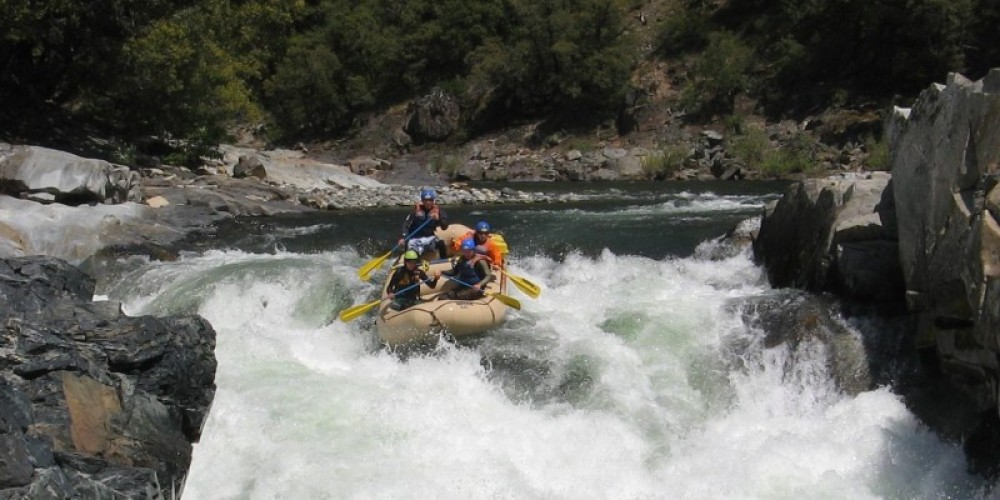 """Rafting on the North Yuiba River through the """"Maytag"""" Class 5 rapid. – Graham Morey"""