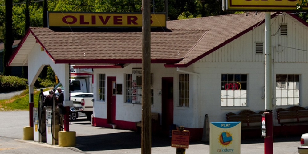 Old style gas station along Old Highway 40 outside of Colfax, CA – Bill Oudegeest
