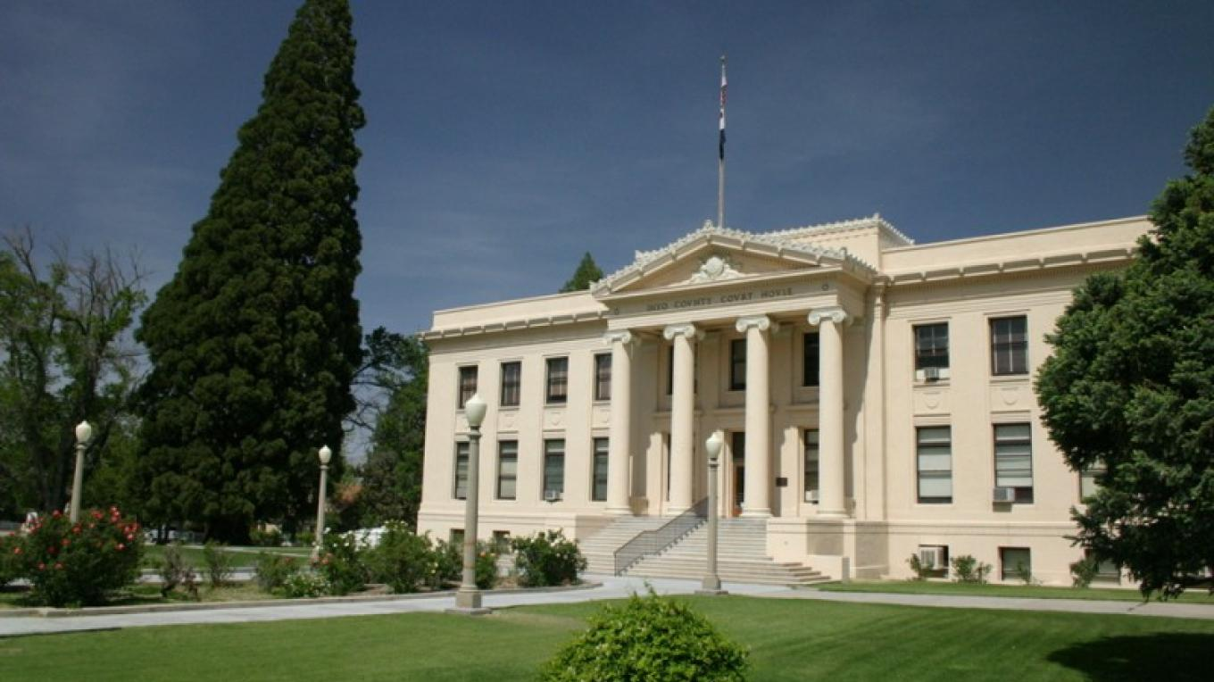 The Inyo County Courthouse remains an imposing presence in Independence. – Tom Wilmer