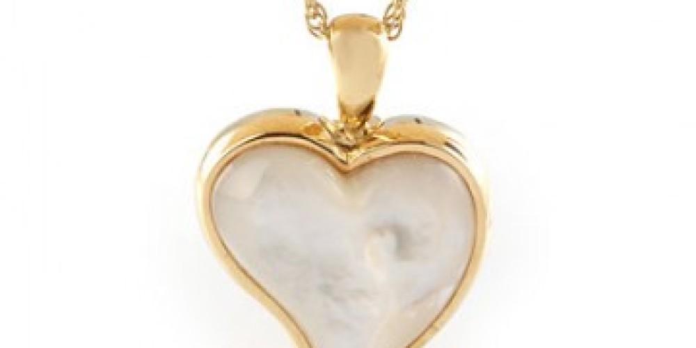 Tear Mother Of Pearl Heart Gold Vermeil Urn – Tyler Fraser