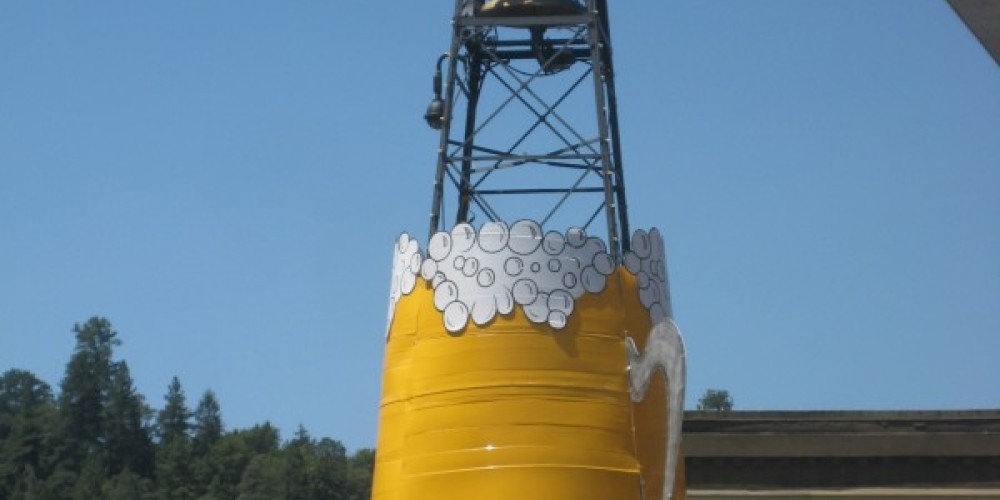 Placerville's Bell Tower gets dressed up for the Annual Bell Tower Brewfest on Historic Main Street. – Cierra Baumunk