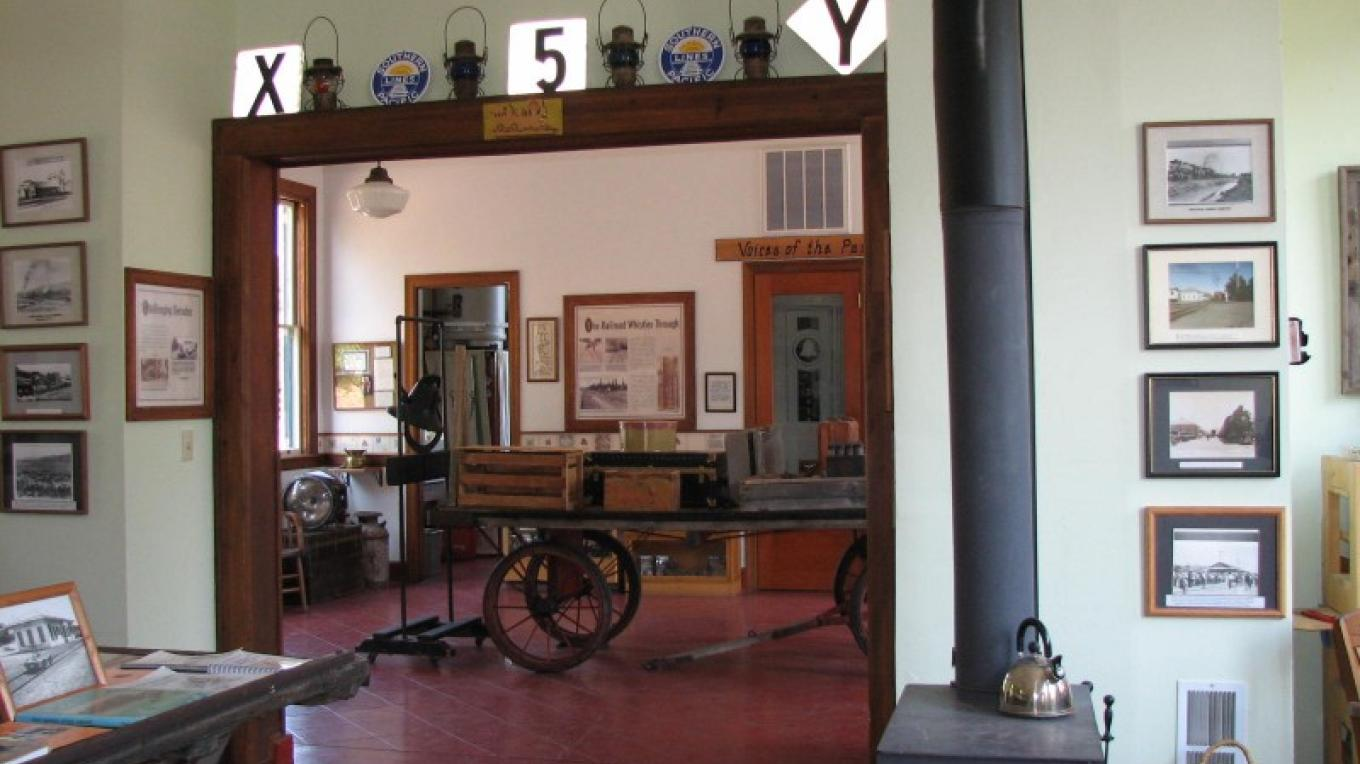 Inside Depot where history of the railroad is interpreted and displayed. – lhansen