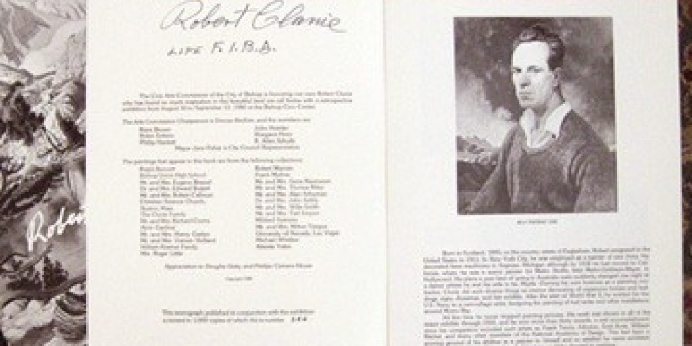 Robert Clunie Monograph published by the Civics Art Commission, City of Bishop 1980. – Wynne Benti