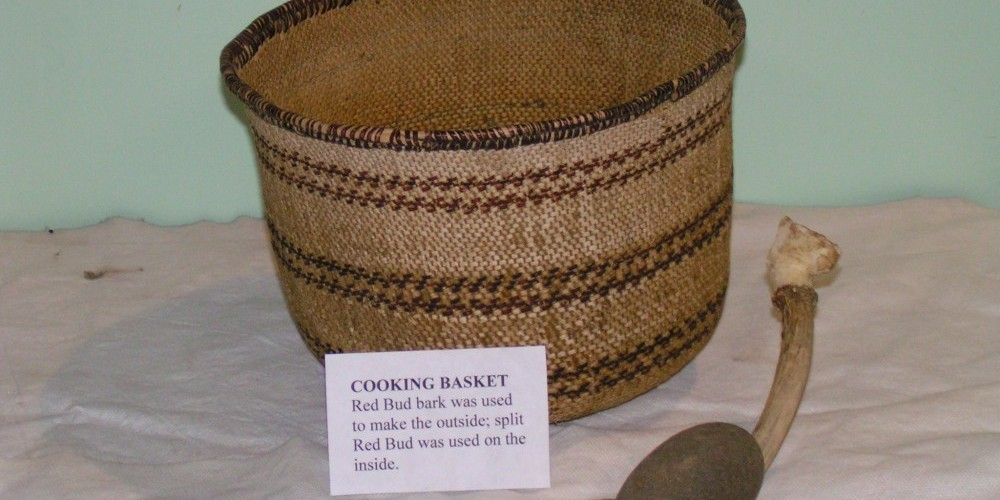 Indian basket that is part of our collection of Indian artifacts. – Jack Good