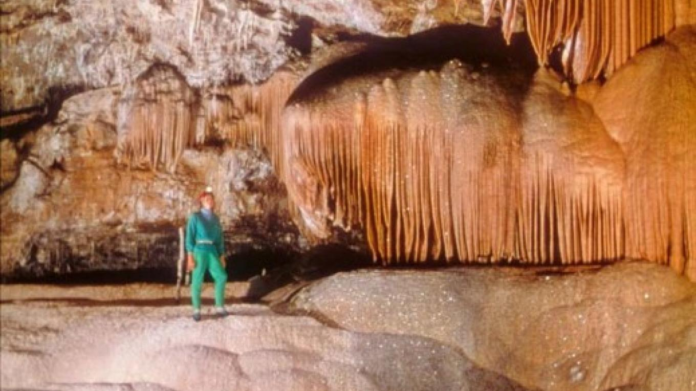The Pumpkin Palace is one of many dazzling sights in the marble caves of Sequoia and Kings Canyon National Parks. – NPS