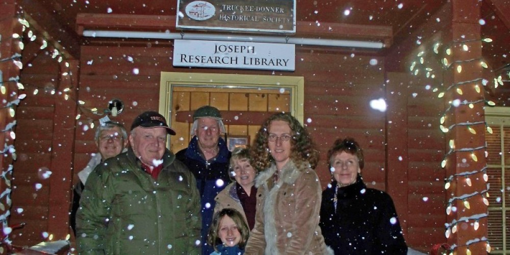 Ribbon cutting for the Joseph Research Library Dedication, December 6, 2009 – 2009 Truckee Donner Historical Society All Rights Reserved