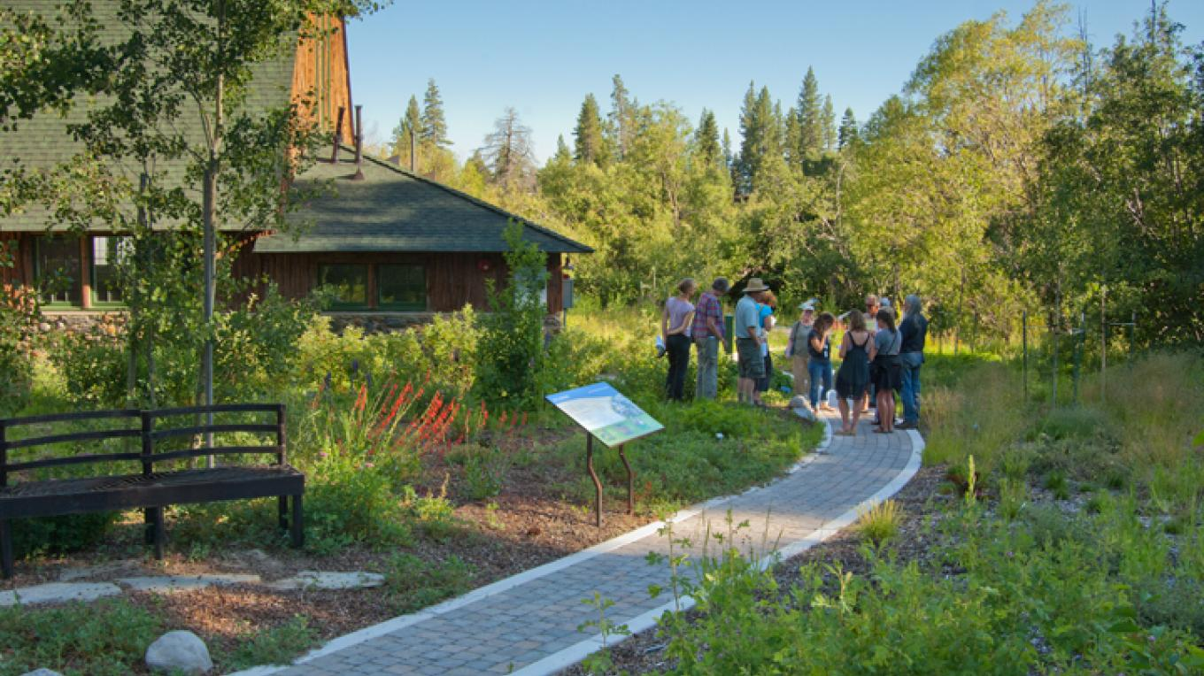 Native plant garden pathway with interpretive signage – Dale Horchner