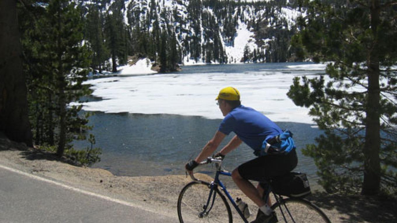 Biking along the Kinney Reservoir