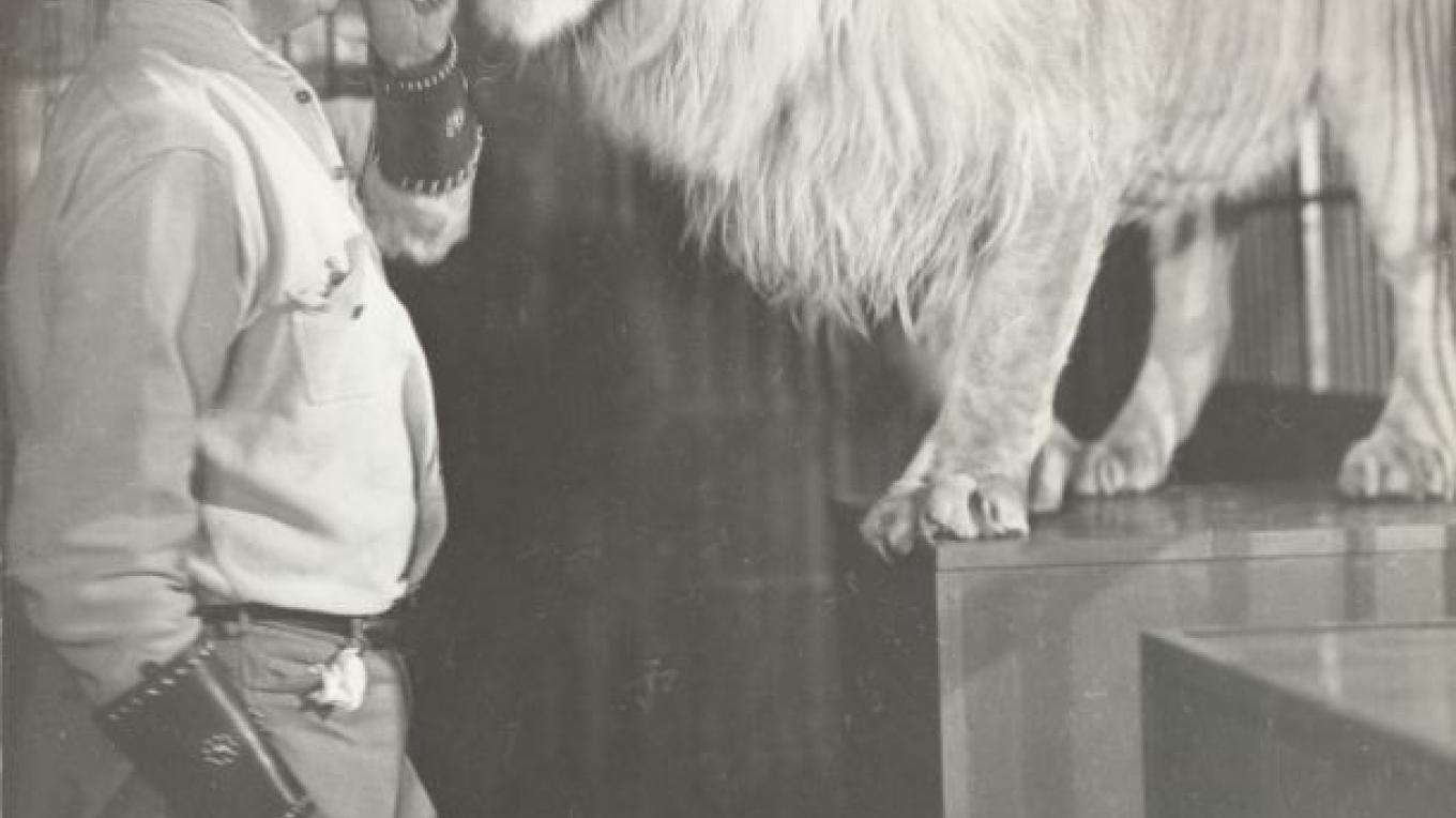Geo. Whittell and Pet Lion