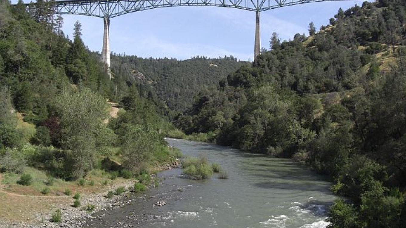 North Fork of the American River flows under Foresthill Bridge – Debbie Griffin