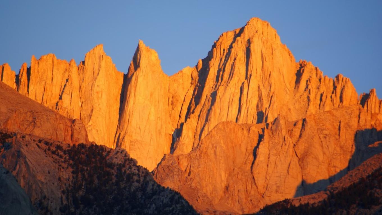 Mt. Whitney at sunrise.