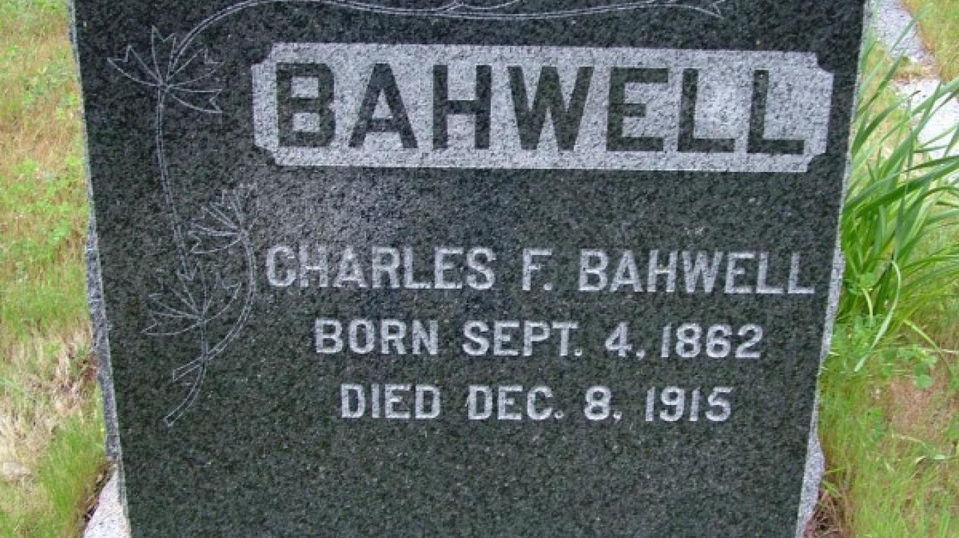 Charles Bahwell, now at rest in the Three Rivers Cemetery, sold an acre of land for $10 to the newly formed Three Rivers Cemetery Association in 1909. – John Elliott