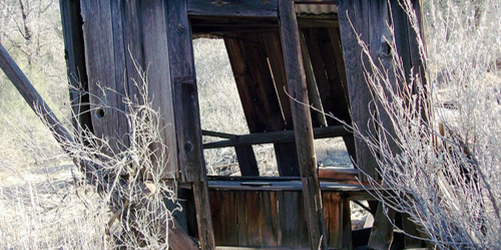 An old outhouse at Keysville in 2007 (may not be still standing) – mlhradio