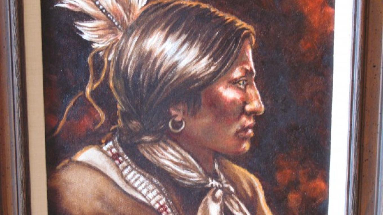 """Amos Two Bulls"" Painting Carol Holmes Wermuth – Charles Topping"
