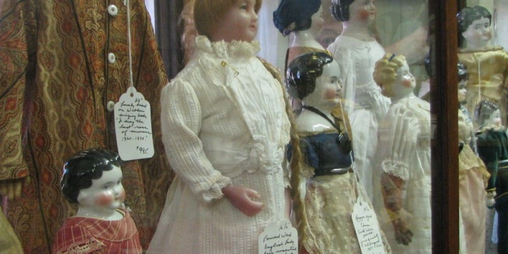Owner, Kay Jensen, loves this building and its history, but her passion is dolls! – Karrie Lindsay