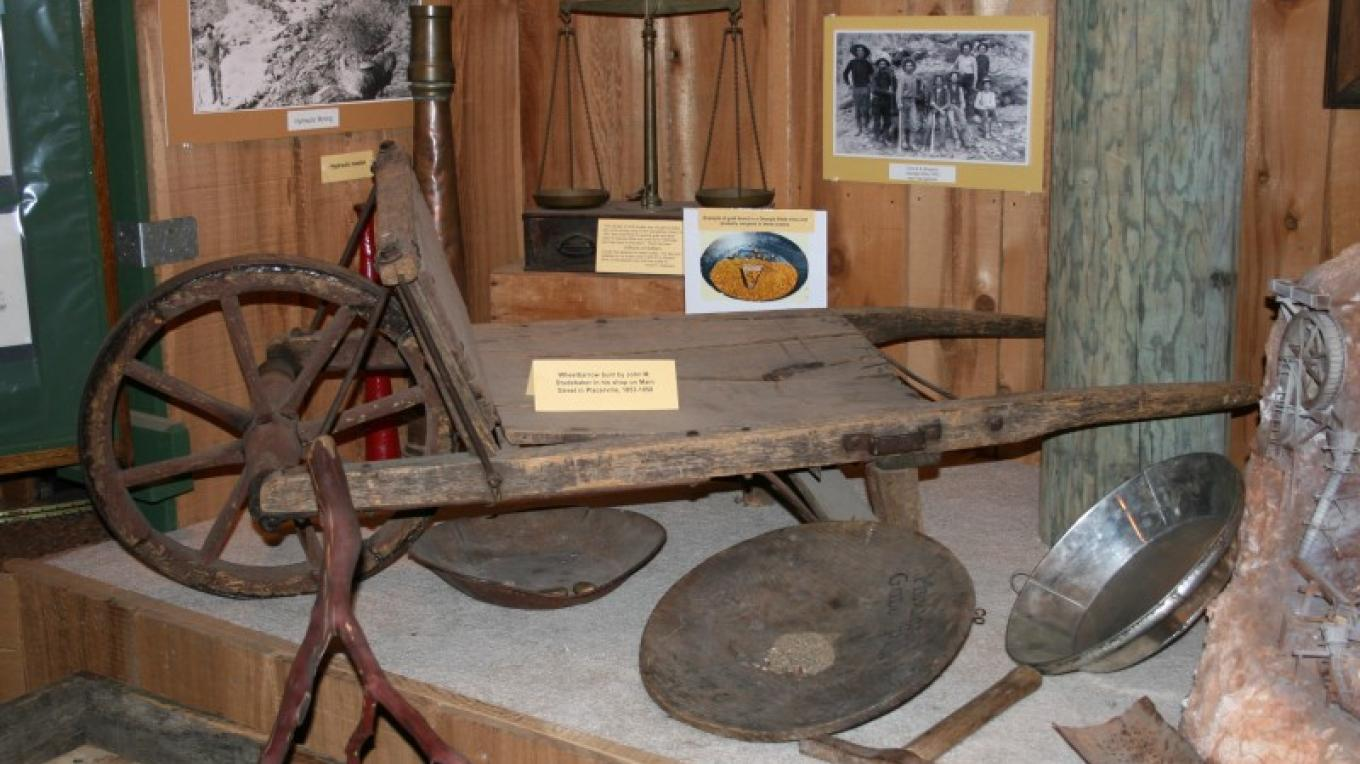 John Studebaker's original wheelbarrow, along with many other artifacts from the County's early history are on display – Bonnie Duffy Wurm