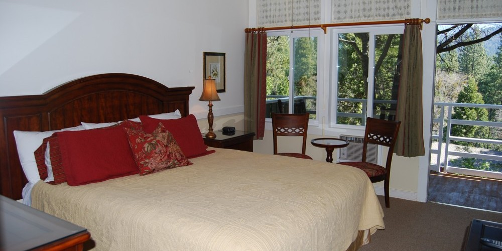 Many rooms have their own balcony with mountain or forest views – Martha VanAman